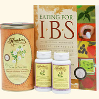 IBS Diet Kit #2 Eating for IBS, Tummy Fiber Acacia Can, Peppermint Caps