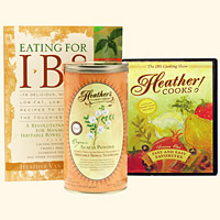 Kitchen Kit Eating for IBS Heather Cooks! DVD Tummy Fiber Acacia Can