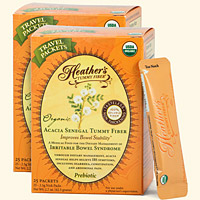 Tummy Fiber<BR>Acacia Senegal<BR>Travel Stick Packs<BR>(2 boxes)<BR><em>Diarrhea & Constipation</em>