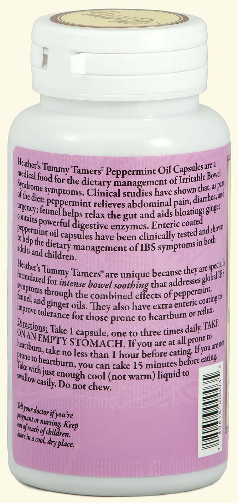 Tummy Tamers Peppermint Oil Caps (2 bottles)