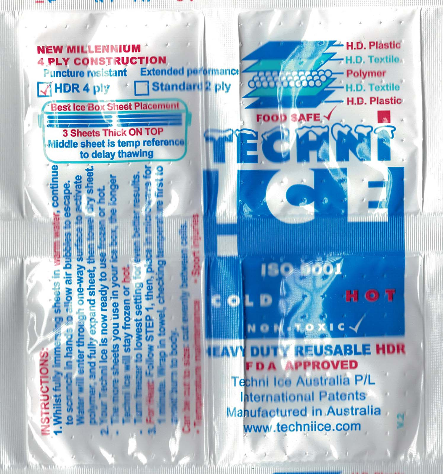 Techni Ice Hot / Cold Packs Microwaveable (2 Packs)