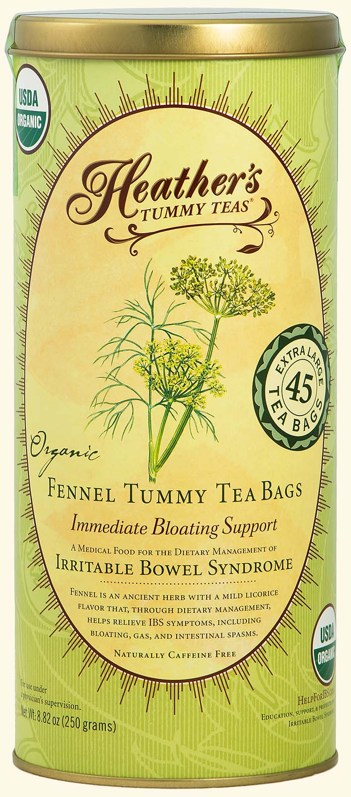 Fennel Tummy TEABAGS<br>45 jumbo bags<br><em>Bloating & Gas</em>