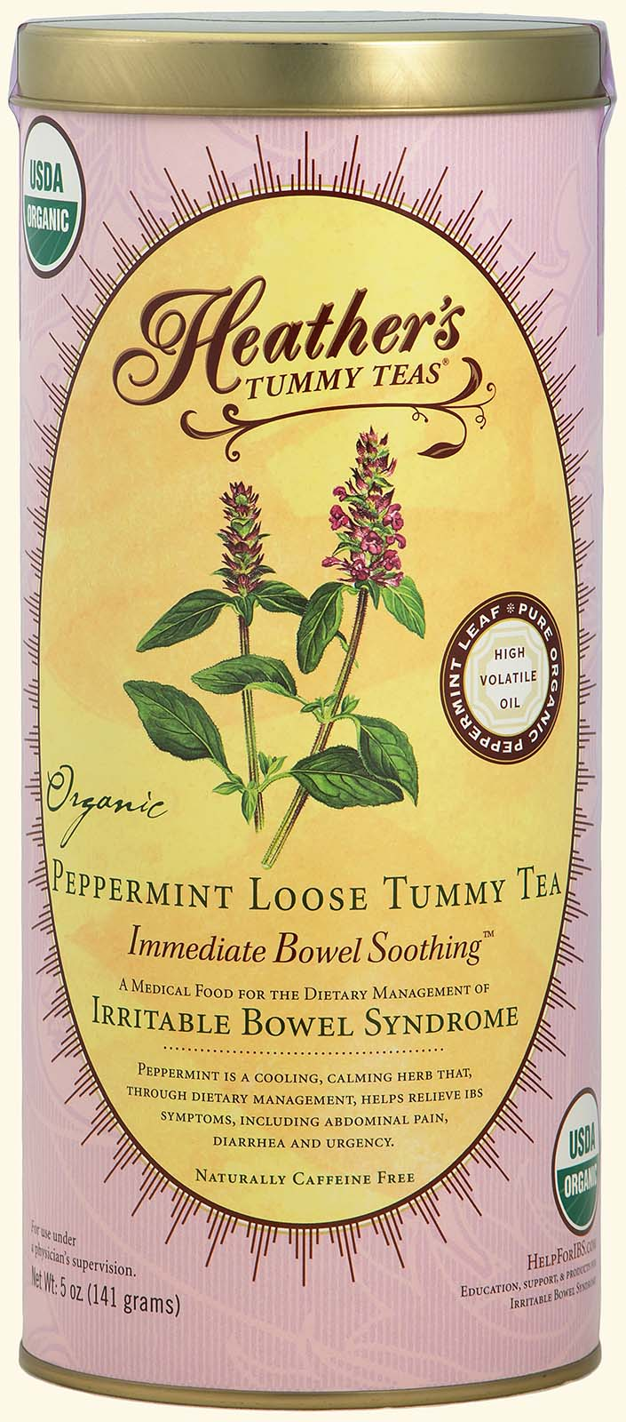 Peppermint Tummy Tea LOOSE CAN